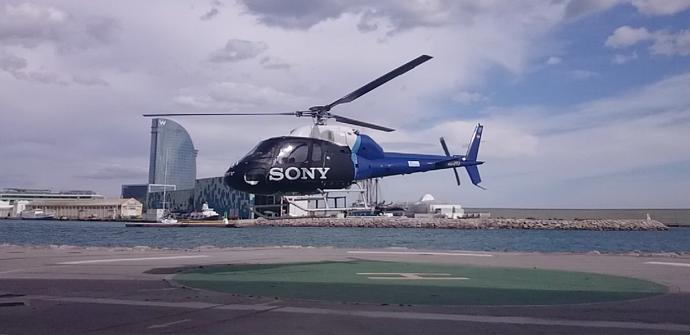 apertura helicoptero sony