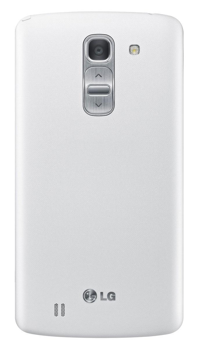 LG G Pro 2 en color blanco, vista trasera y detalle de la cámara