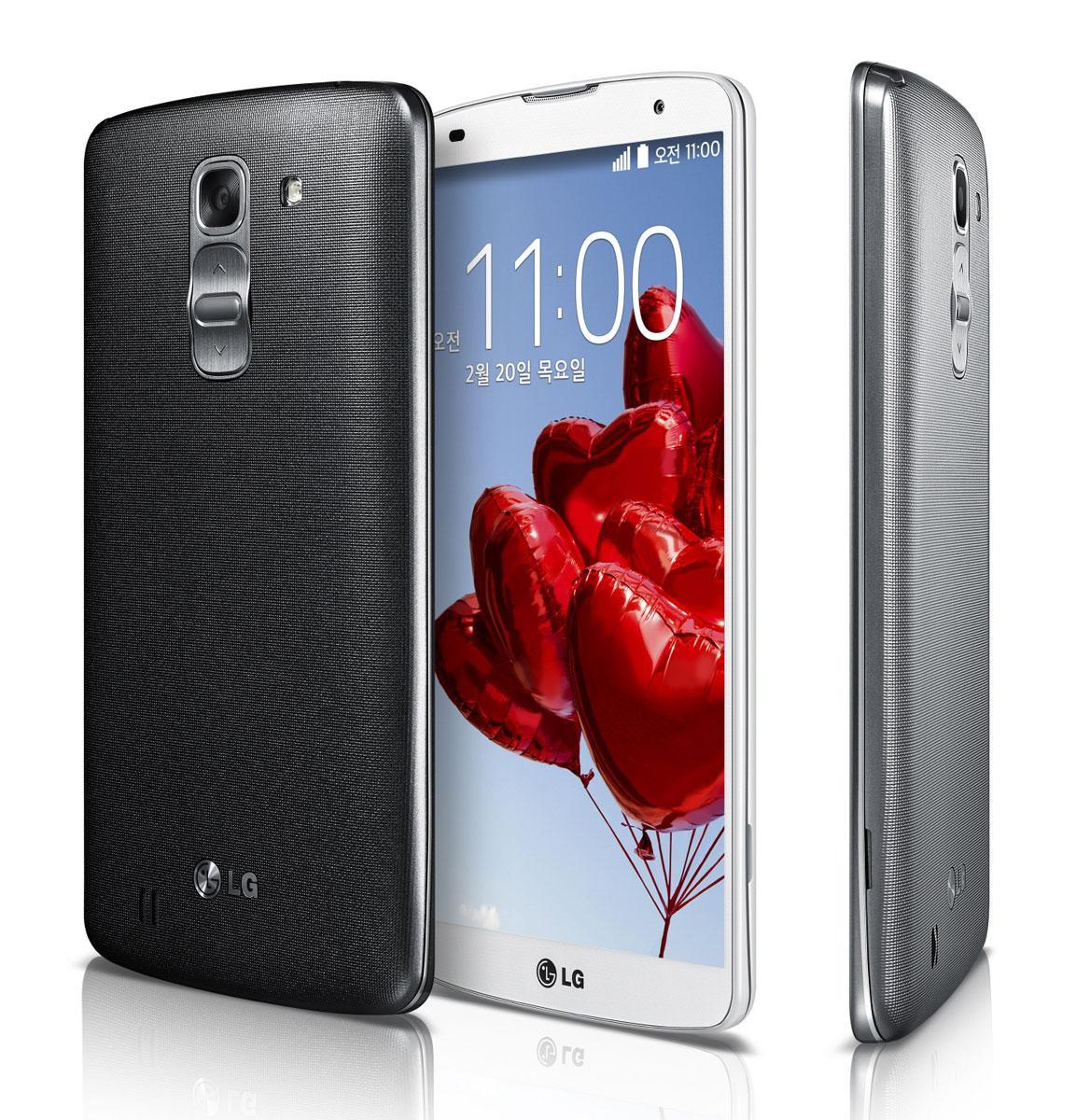 LG G Pro 2 en color negro, blando y gris