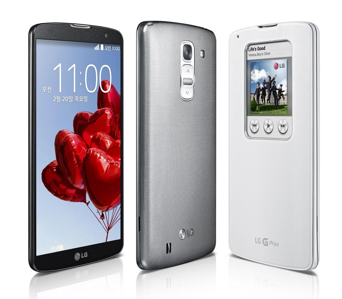 LG G Pro 2 con funda protectora