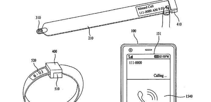 patente lg stylus smartwatch pulsera