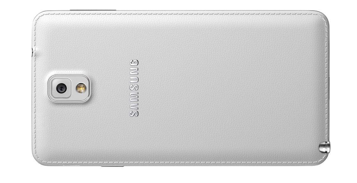 Samsung Galaxy Note 3 Neo en color blanco vista trasera