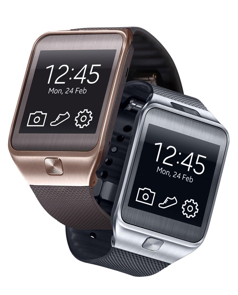 Samsung Gear 2 en color oro y plateado
