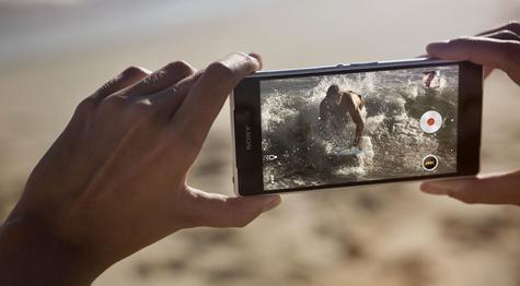 Sony Xperia Z2 con su cámara digital