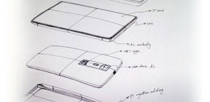 Bocetos y diseño del OnePlus One con Cyanogen