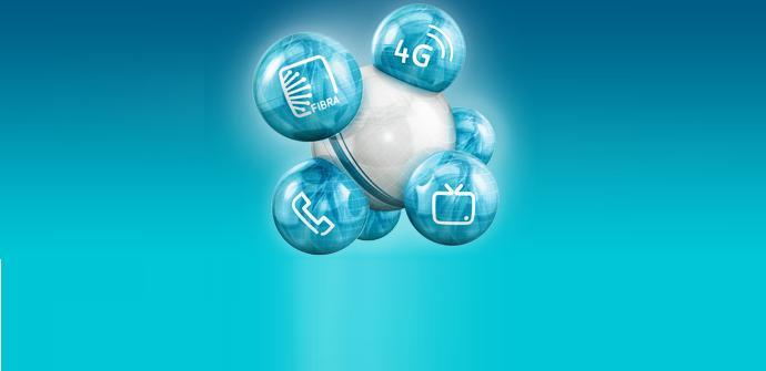 icono de burbujas de movistar fusión