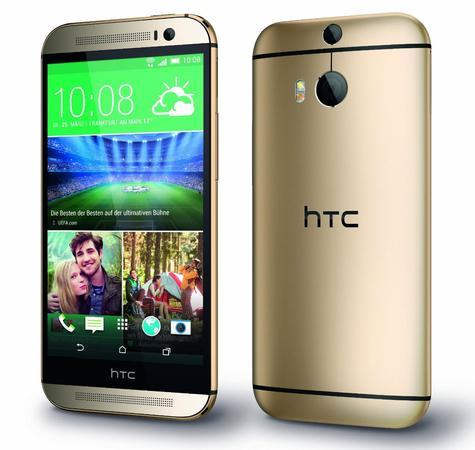 HTC One M8 en color dorado