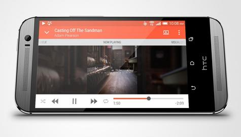 HTC One M8 vista lateral