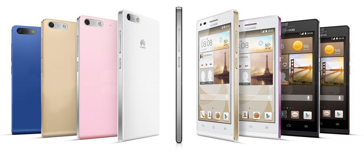 Huawei Ascend G6 en diferentes color y formatos