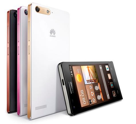 Huawei Ascend G6 en color negro, blanco, rosa y marrón