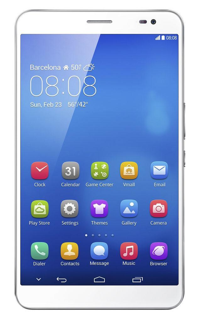 Huawei Mediapad X1 7.0 vista frontal