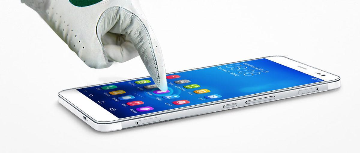 Tocando con guantes un Huawei Mediapad X1 7.0