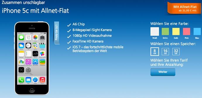 iPhone 5c 8 GB alemania