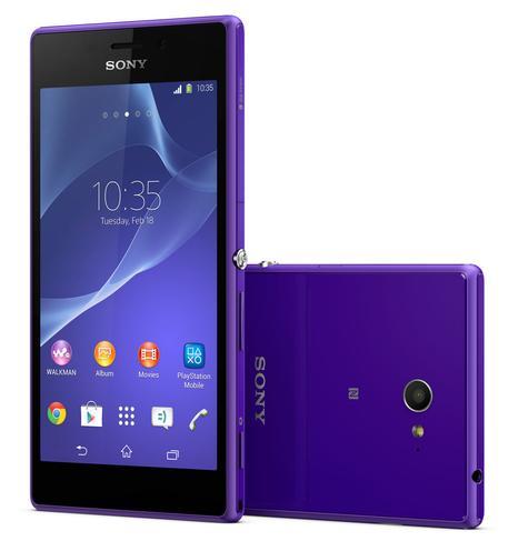 Sony Xperia M2 en color violeta