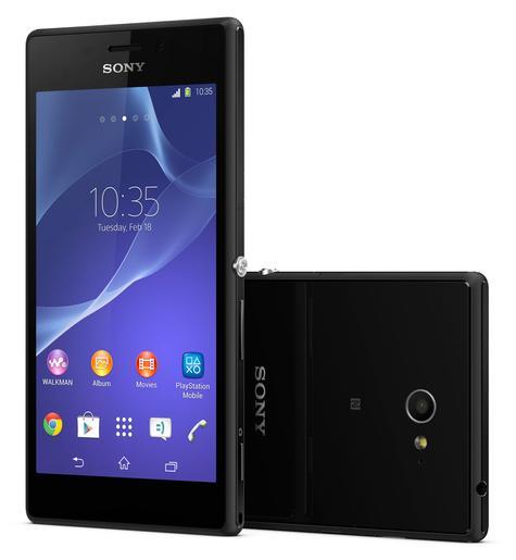 Sony Xperia M2 y detalle de la cámara