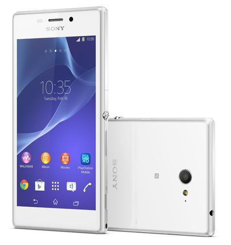 Sony Xperia M2 en color blanco