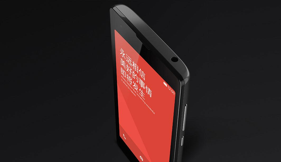Xiaomi Red Rice en negro vista de conexión de auriculares