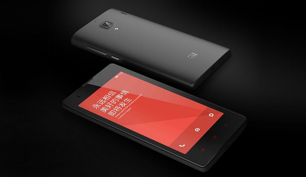 Xiaomi Red Rice en negro vista de pantalla y de cámara trasera