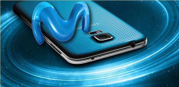 Samsung Galaxy S5 con logo de Movistar
