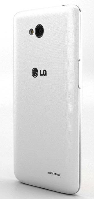 LG L65 de color blanco visto por detrás