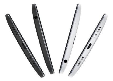 Detalle superior del conector y puertos del OnePlus One