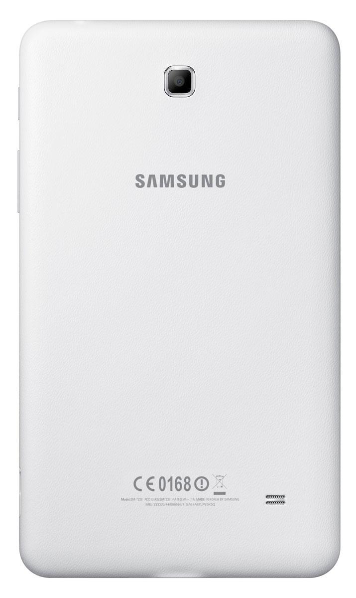 Samsung Galaxy Tab4 7.0 en color blanco vista por detrás