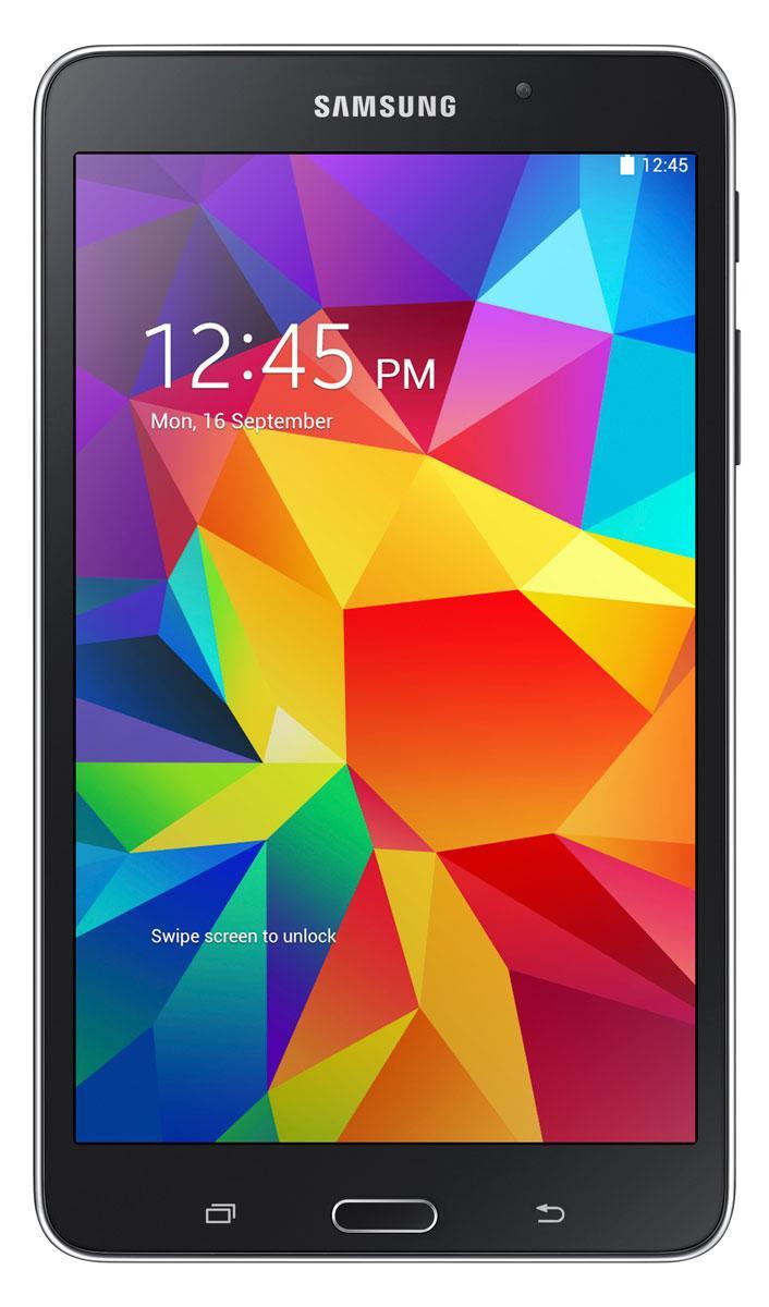 Samsung Galaxy Tab4 7.0 en color negro, vista frontal