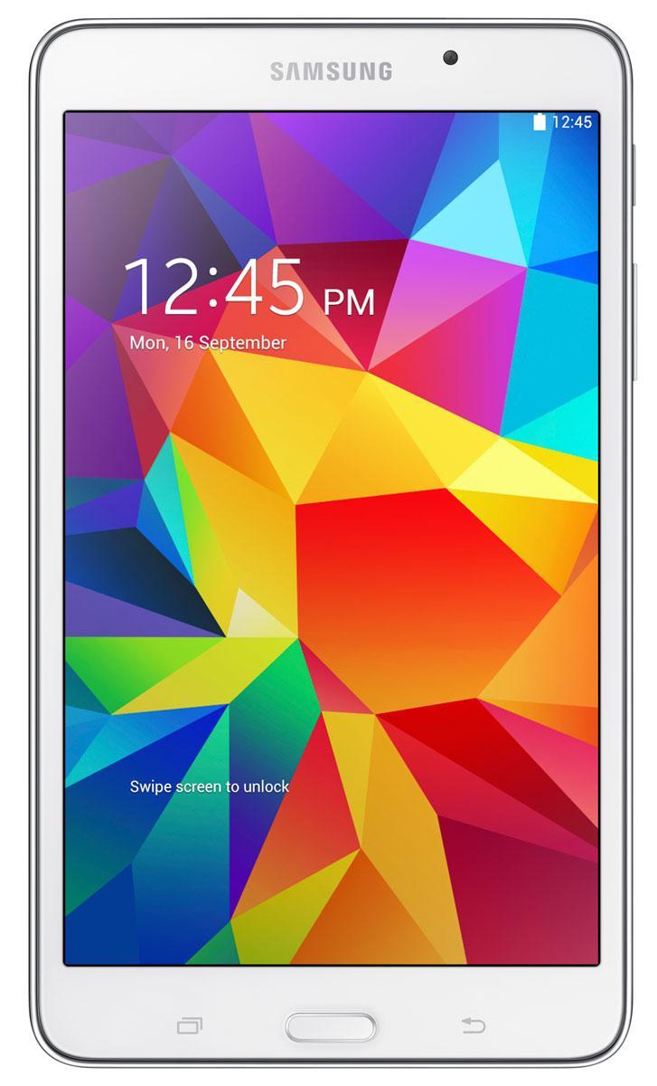 Samsung Galaxy Tab4 7.0 en color blanco, vista frontal