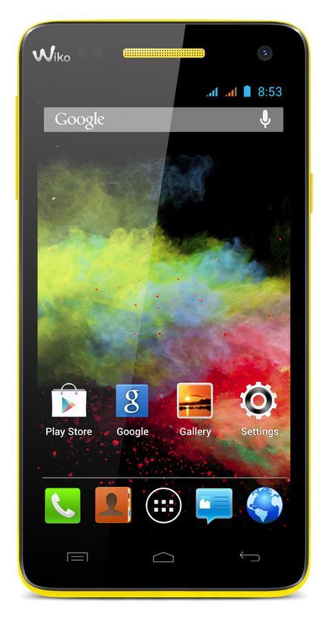 Wiko Rainbow en color negro y amarillo