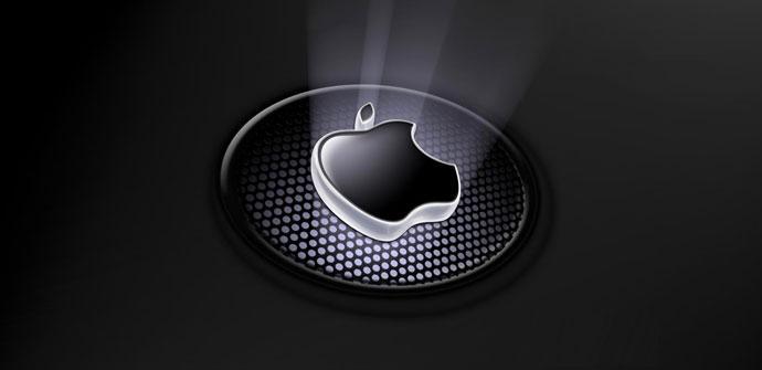 Logo iluminado de Apple