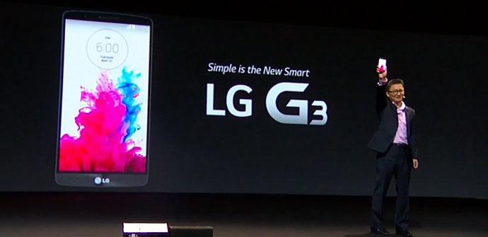 Presentacion del LG G3