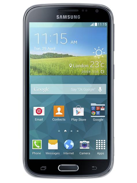 Vista frontal del Samsung Galaxy K Zoom