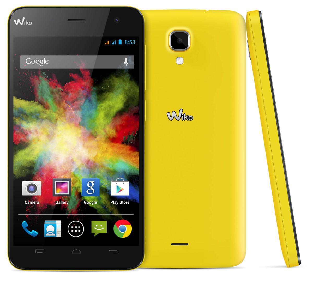 Wiko Bloom en color amarillo