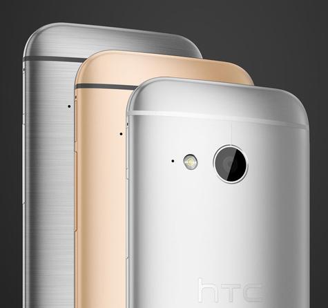 HTC One Mini 2 en color plata y oro