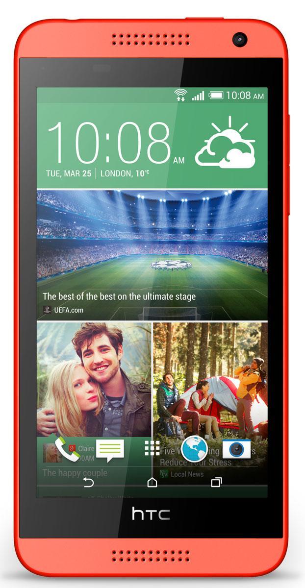 HTC Desire en 610 vista frontal en color rojo