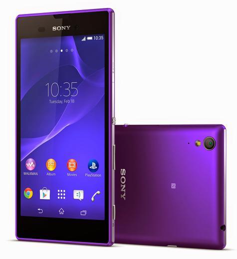 Sony Xperia T3 en color violeta