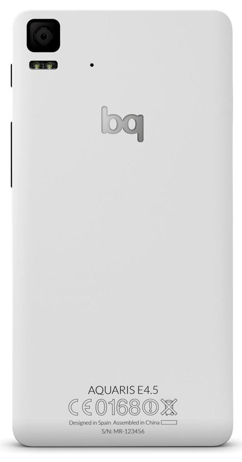 bq Aquaris e4.5 en color blanco vista trasera