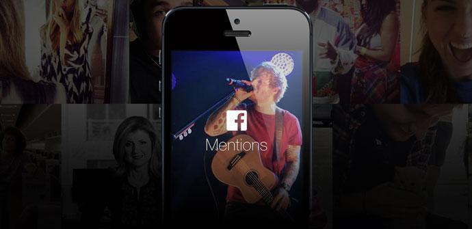 Aplicacion Facebook Mentions para iOS