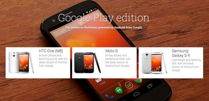 Smartphones Google Play Edition