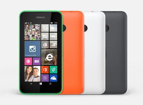 Nokia Lumia 530 en color naranja