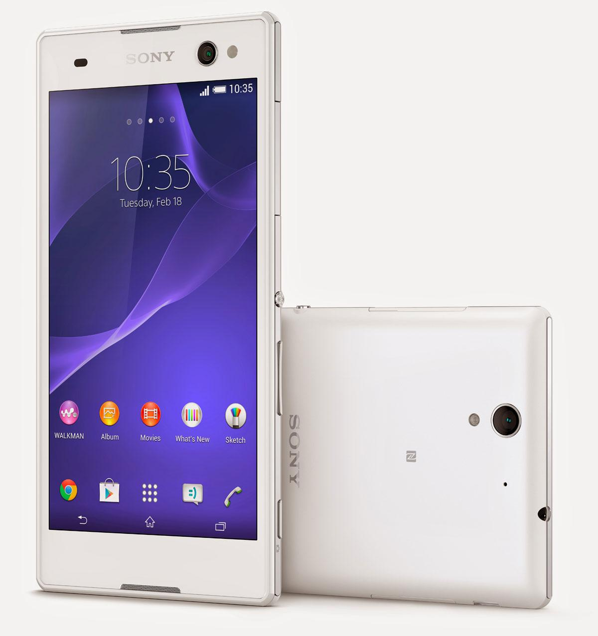 Sony Xperia C3 en color blanco