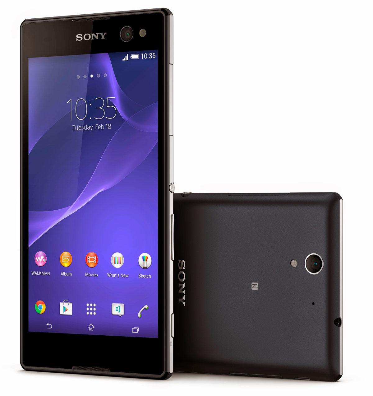 Sony Xperia C3 en color negro
