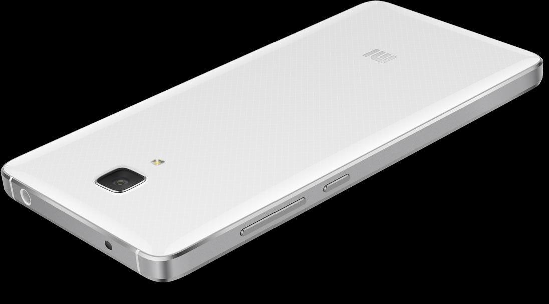 Xiaomi Mi4 en blanco vista de la cámara