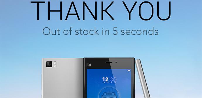Venta del Xiaomi Mi3