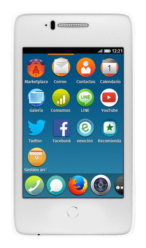 Alcatel One Touch Fire C en color blanco