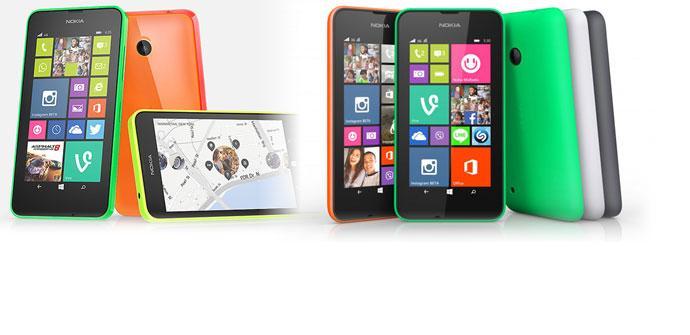 Nokia Lumia en varios colores