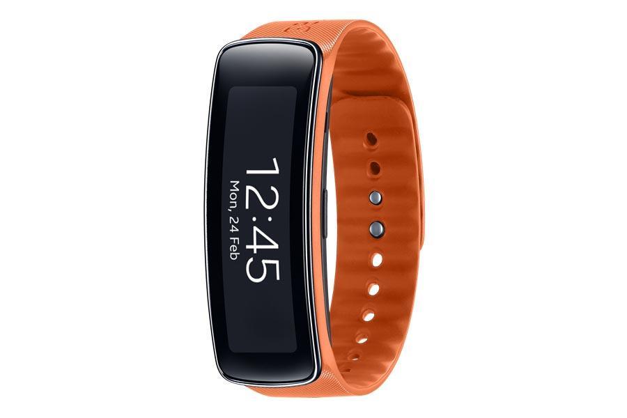 Samsung Gear Fit en color naranja