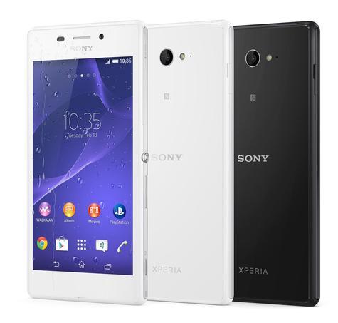 Sony Xperia M2 Aqua en blanco y negro