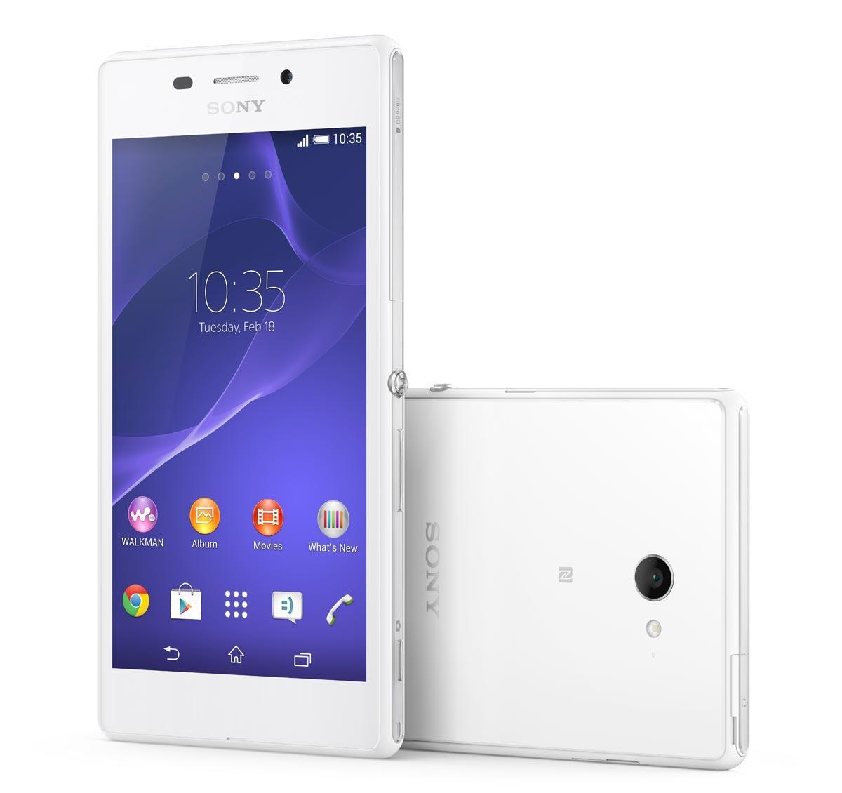 Sony Xperia M2 Aqua en color blanco
