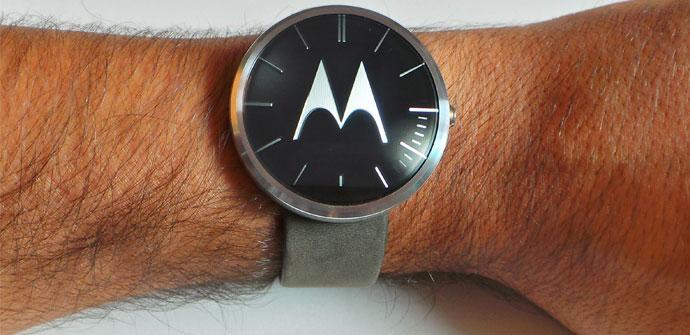 Apertura del Motorola Moto 360